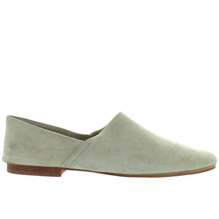 Musse & Cloud Saphira - Grey Suede Slip-On Flat