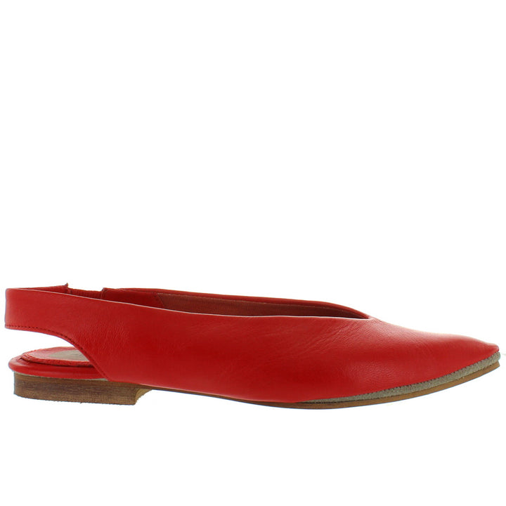 Musse & Cloud Shivani - Red Pointy Toe Sling-Back Flat