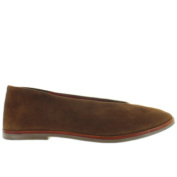 Musse & Cloud Simone - Cue Suede V-Neck Slip-On Flat
