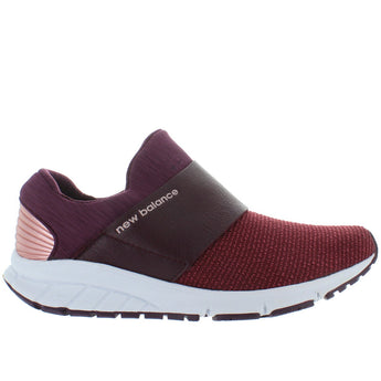 New Balance Valee Rush - Burgundy Textile Slip-On Sneaker