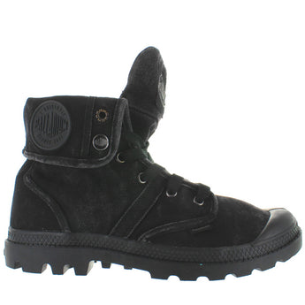 Palladium Pallabrouse Baggy - Black/Metal Canvas/Rubber Snap Cuff Boot