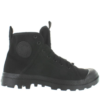 Palladium Pampa Hi - Black/Chevron Canvas Lace Boot