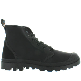 Palladium Pampa Hi Originale WP - Waterproof Black Canvas/Nubuck Lace-Up Boot