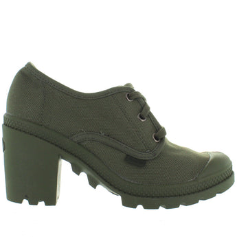 Palladium Pampa Oxford Heel - Olive Drab Oxford Sneaker