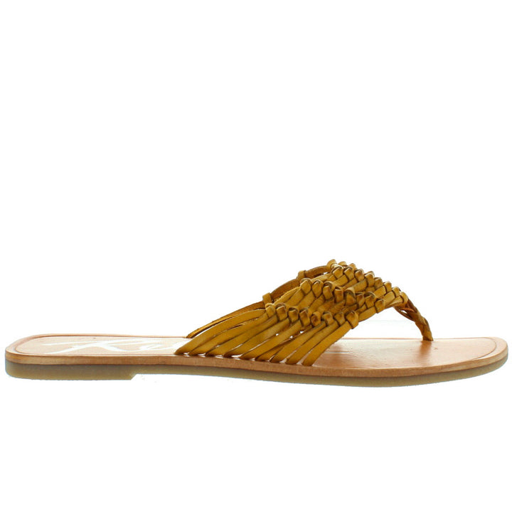 Rebels Sarita - Yellow Huarache Flat Thong Sandal