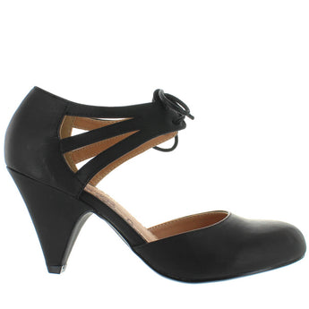 Restricted Kristy - Black Retro Oxford Pump
