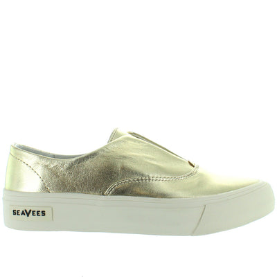 SeaVees Sunset Strip - Gold Leather Slip-On Platform Sneaker