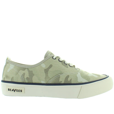 SeaVees Legend Saltwash - Cream Camo Twill Lace Sneaker