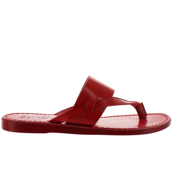 Seychelles Mosaic - Red Leather Flat Thong Sandal