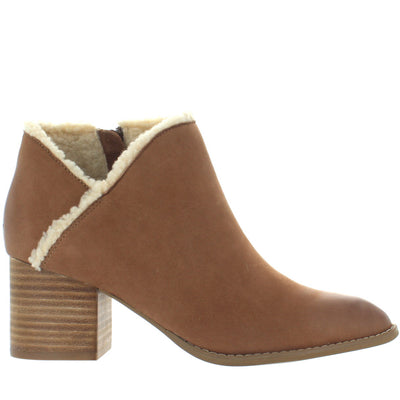 Seychelles Preview - Cognac Leather Shearling Bootie
