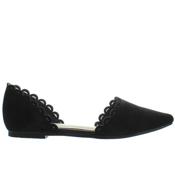 Seychelles Research - Black Leather D'Orsay Flat