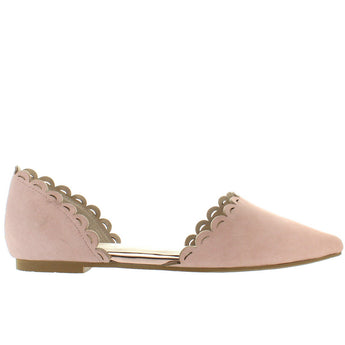Seychelles Research - Pink Leather D'Orsay Flat