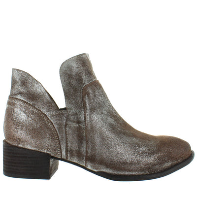 Seychelles Score - Metallic Pewter Leather Bootie