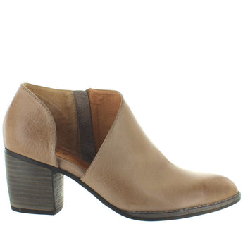 Silent D Bichon - Taupe Leather Fancy Cut Western Bootie
