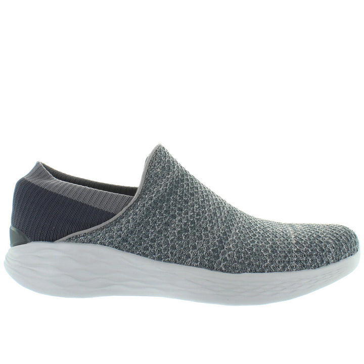 Skechers You Walk - You Slip Charcoal Mesh Slip-On Sneaker