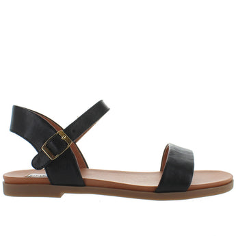 Steve Madden Dina - Black Leather Sandal