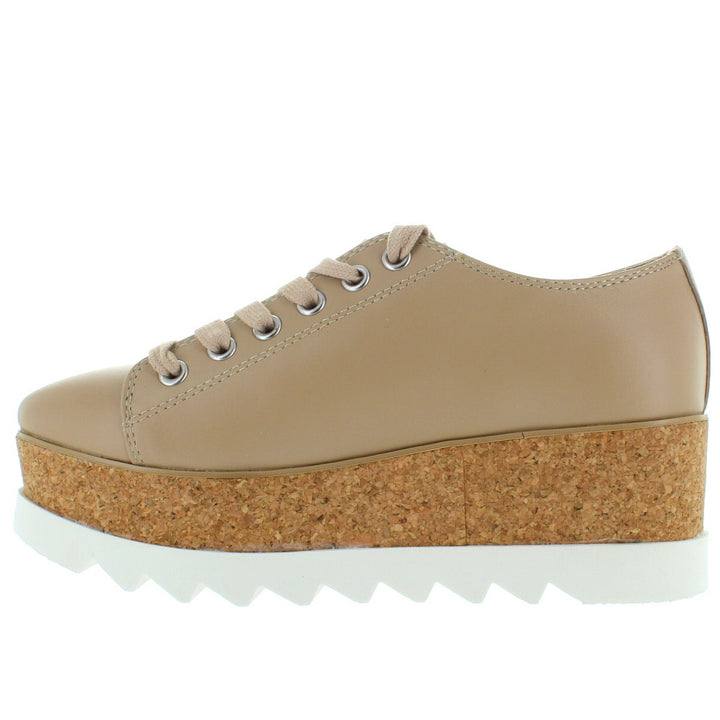 444edb0ac46 ... Steve Madden Korrie - Natural Leather High Platform Sneaker ...