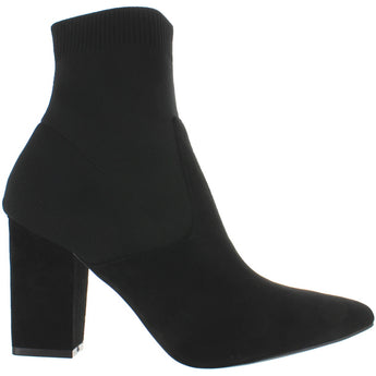 Steve Madden Remy - Black Suede High Heel Sweater Boot