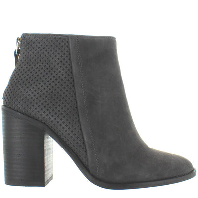 Steve Madden Replay - Charcoal Grey Suede Back Zip Short Bootie