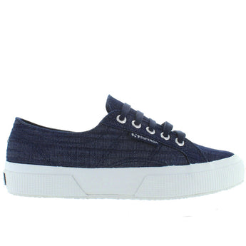 Superga 2750 - Blue Denim Shine Lace Sneaker