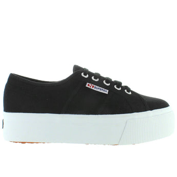 Superga 2790 ACOTW - Black Canvas Lace Platfrom Sneaker