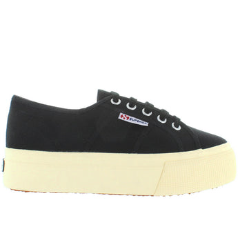 Superga 2790 - Black Canvas Platform Sneaker