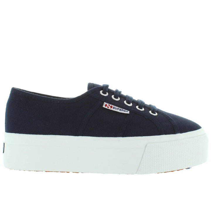 Superga 2790 - Navy Canvas Platform Sneaker