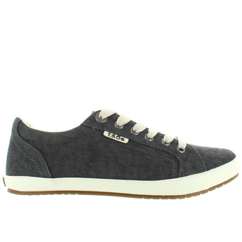 Taos Star - Charcoal Washed Canvas Lace Sneaker