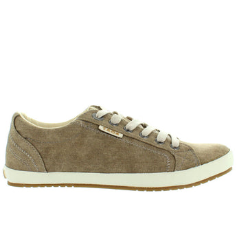 Taos Star - Khaki Washed Canvas Lace Sneaker