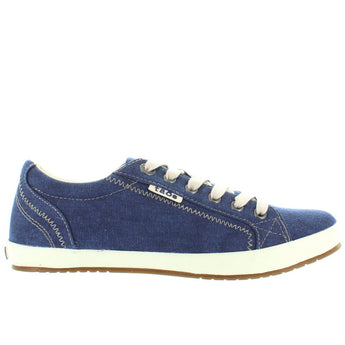Taos Star - Navy Washed Canvas Lace Sneaker
