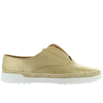 Wanted Blend - Gold Athleisure Slip-On Espadrille