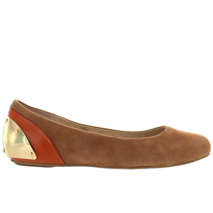Wanted Maclaine - Tan Suede Ballet Flat