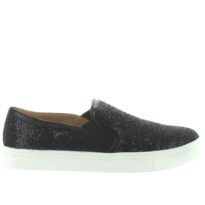 Wanted Studio 54 - Glitzy Black Slip-On Sneaker