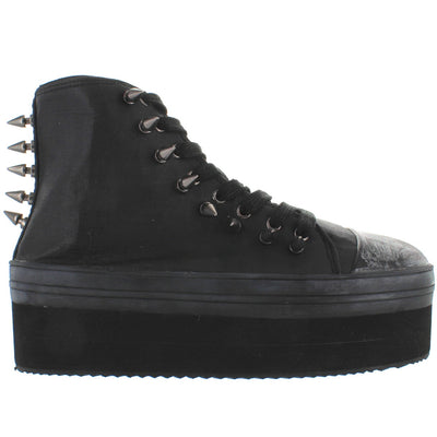 YRU Elevation Spike - Black/Black Canvas/Rubber High Platform Spike Oxford