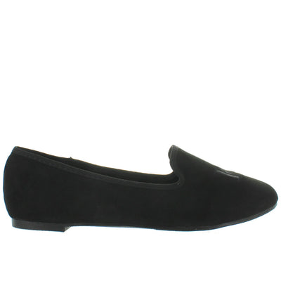 YRU Fu-ck - Black/Black Lounging Loafer