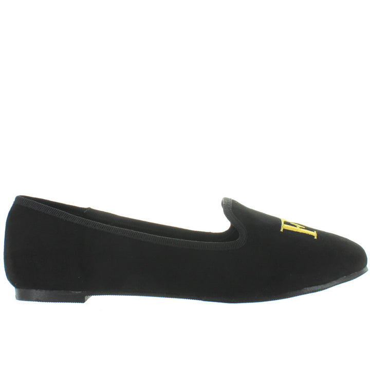 YRU Lavish Fu-ck - Black/Gold Lounging Loafer