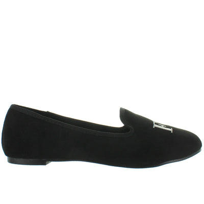 YRU Lavish Fu-ck - Black/Silver Lounging Loafer