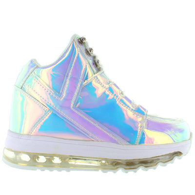 YRU Qozmo Aiire - Silver Atlantis Light-Up Sneaker