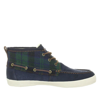 Gravis Yachtmaster Mid Men's - Blue Plaid High-Top Boat Shoe