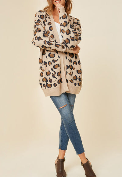 Kixters - Tan Leopard Sweater