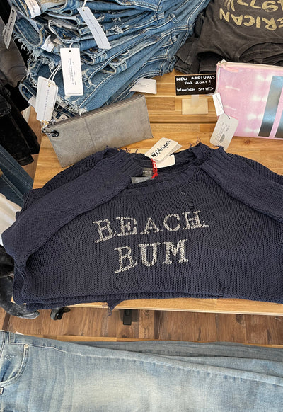 Wooden Ships - Beach Bum Sweater Dark Indigo