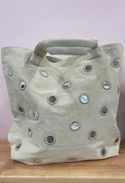 Quilted Koala - Mirror Tote Bag Stone