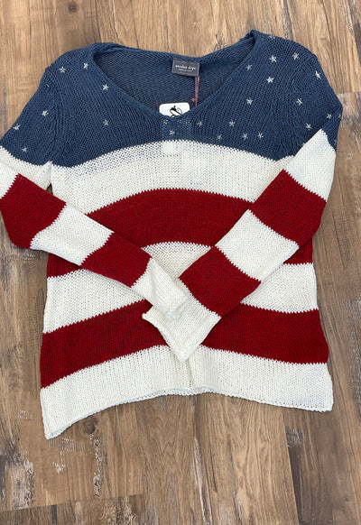 Wooden Ships - Alice Flag V-Cotton Sweater