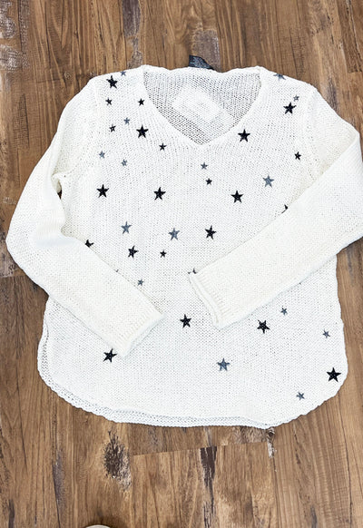 Wooden Ships - Breaker Mini Stars V-Cotton Sweater