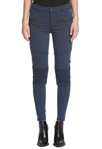 Kixters - Knee Pleated Navy Skinny Pants