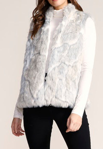Jack - Ivory In A Furry Faux Fur Vest