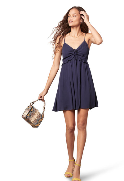 Jack - Deep Ocean Cha Cha Cha Spaghetti Strap Mini Dress