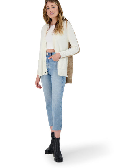 BB Dakota - Ivory Extra Credit Long Sleeve Sweater