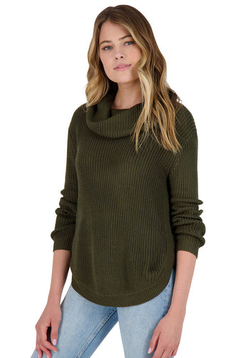 BB Dakota - Forest For The Trees Army Green Sweater