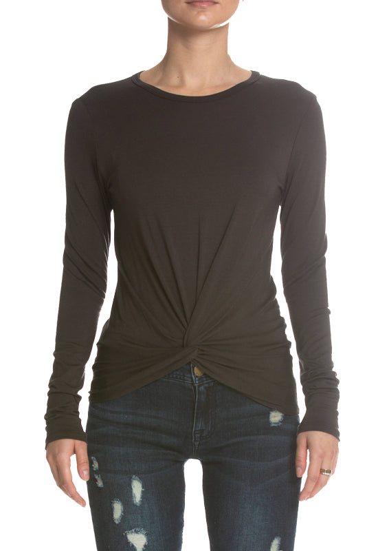 Kixters - Charcoal Twist Front Top